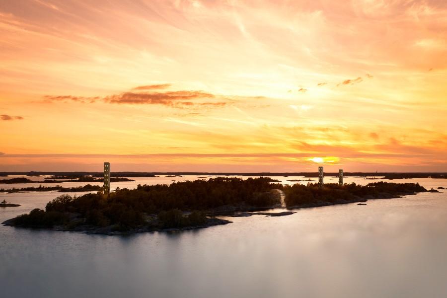 Vår vision är att Bergön ska bli en träffpunkt i St Annas Skärgård, samt öppna upp och göra området mer tillgängligt för alla. Foto och montage: Mattias Brauns