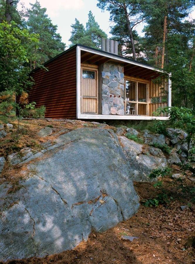 Vi inspireras av Ralph Erskines kreativa fritidshus på Lovön. Foto: Olle Norling