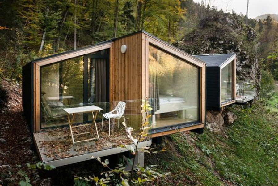 Byggnad med minimal privat utemiljö. Foto: Mr. Janez Marolt Projekt: Ekokoncept