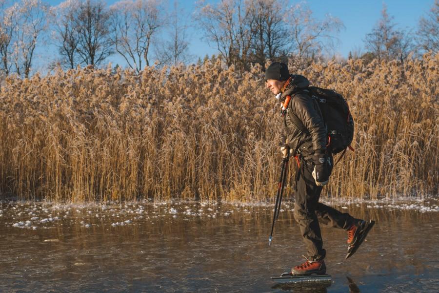 Vacker miljö för långfärdsskridskoåkare. Foto: Do The North